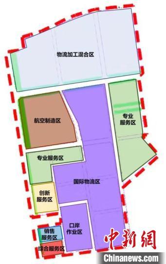 陕西西咸空港综合保税区。空港新城供图